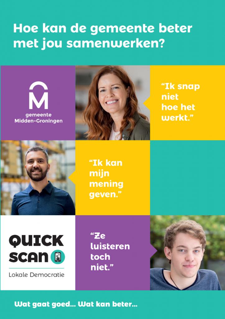 Gemeente Midden-Groningen: Quick Scan Lokale Democratie flyer