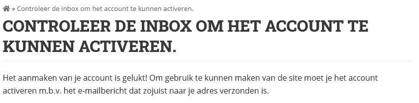 Controleer de inbox